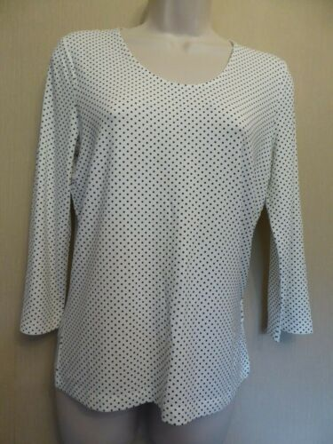 Betty Barclay UK10 EU38 US6 white stretch spotted top with 3/4 length sleeves