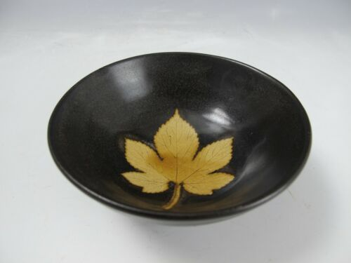 A Beautiful Chinese Old Kiln Bowl With Maple Leaf Shape