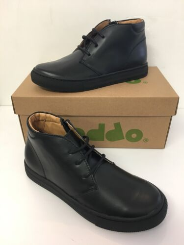 Froddo Boys School Boots In Black Leather with Side Zip ( G4110042)