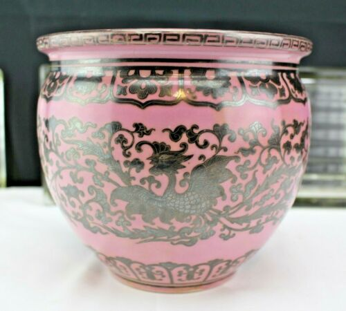 Pink Coral Japanese Silver-Inlaid Porcelain Vase By Shofu Katei (1870-1928) Earl