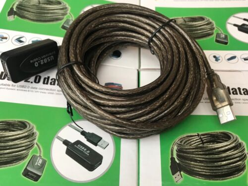 10m USB 2.0 High Speed Extension Cable A male to A female 10 Meters AUS Stock