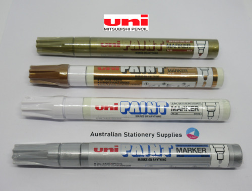 4 x Uni PAINT MARKER PX-20 Assorted Colours  2.2mm-2.8mm bullet nib in stock