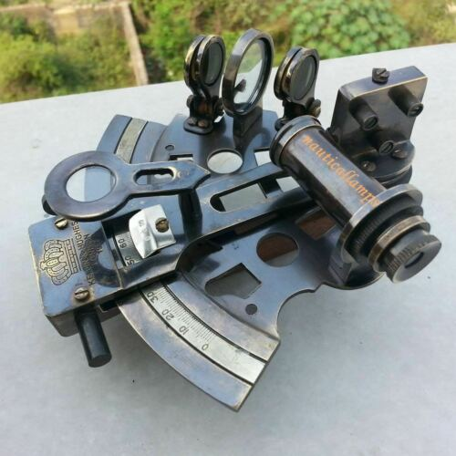 SEXTANT NAUTICAL ANTIQUE BRASS MARINE MARITIME SOLID SHIP SEXTANT STYLE NEW GIFT