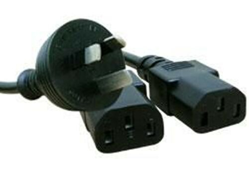 Comsol 2M Y Power Cable Wall 3pin(M) to 2 x IEC(F) Power Plugs