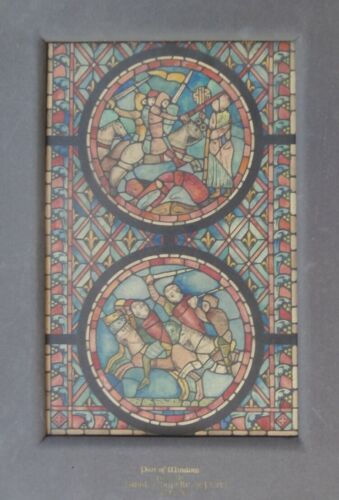Exhibited 1910 French Gothic Stained Glass Architect Painting Leicester Holland