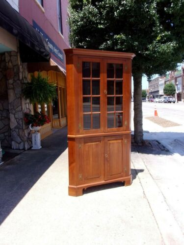 Grand Southern Shope Made Cherry Corner Cupboard 20th Century