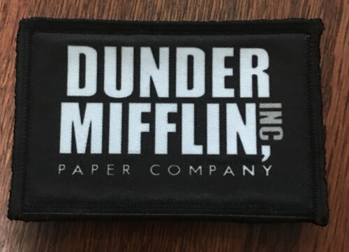 Dunder Mifflin Logo The Office Morale Patch Funny Tactical Military USA ArmyArmy - 48824