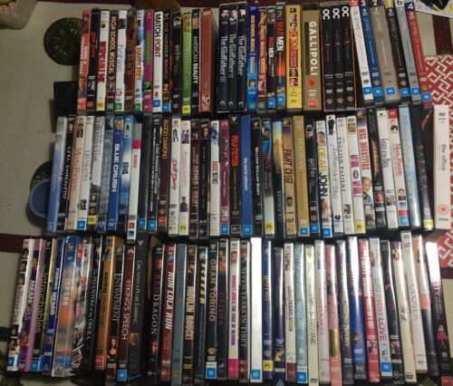 *Hundreds of DVDs, R4, cases in perfect condition, many Classics & 99% LIKE NEW*