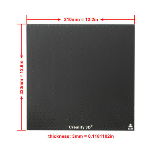 Creality Glass Bed 320X310mm For CR-10 V2 / CR-10S Pro 3D Printer Build Plate AU