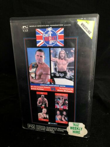 WWF WWE ONE NIGHT ONLY 1997 VHS