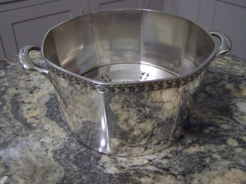 AMERICAN ART DECO ERA ROARING '20s SILVER BAR ICE TUB BUCKET CLASSICAL STYLE