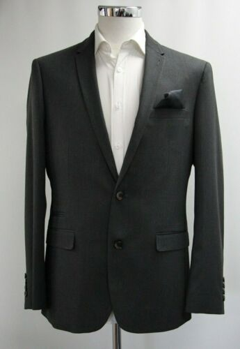 Men's River Island Charcoal Grey 2pc Suit (40R).. Sample 5846