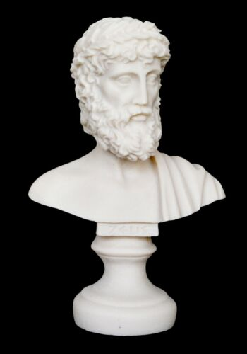 Zeus Small Bust Statue - Olympians King of All Gods - Ruler of Sky and Thunder