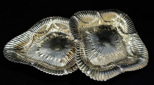 Georgian Sterling Gilt Silver Pair of Footed Dishes William Eley & W. Fearn 1799