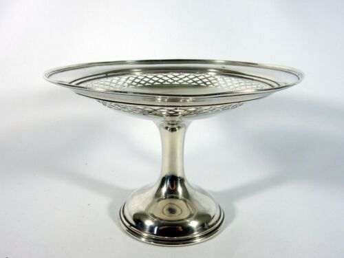 Antique Edwardian 1907 Sterling Silver Comport Stand Fruit Bowl Dish Westwood