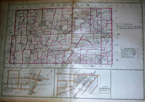 HORSHAM TWP. MONTGOMERY COUNTY PA 1893 DAVIS GROVE PROSPECT VILLE ANTIQUE MAP