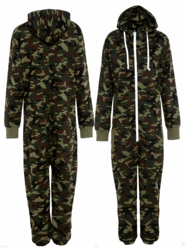 Unisex Camo 1Onesie Military Camouflage Army Printed Jumpsuit Playsuit All Sizes