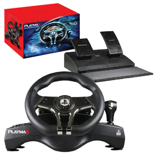 PLAYMAX Hurricane Steering wheel for PS4 & PS3 NEW