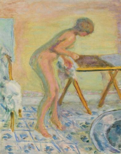 Pierre Bonnard Naked Woman Standing At The Folding Table Canvas Print      #4599