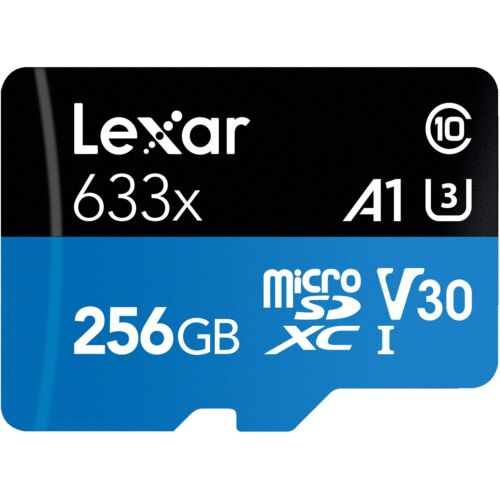 Lexar Micro SD 256GB 633x SDXC A1 V30 95MB/s Mobile Phone Tablet Memory Card