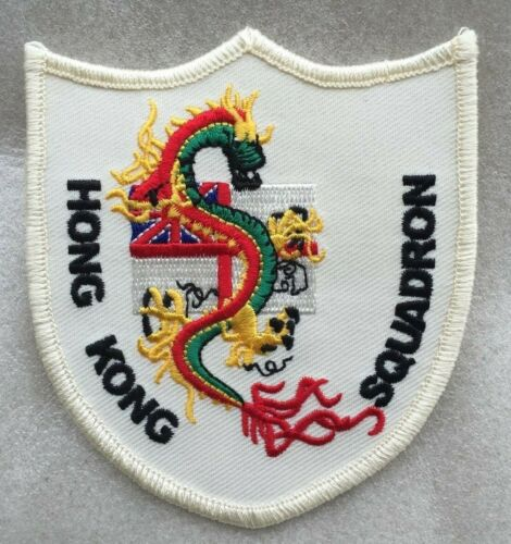 Hms Tamar Royal Navy Hk Squadron Embroidered Emblem Trf/patch/badge