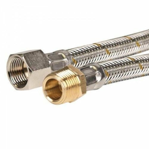 1200mm Stainless Steel Braided LPG / Natural Gas Hose 1/2 Inch BSP TGSF