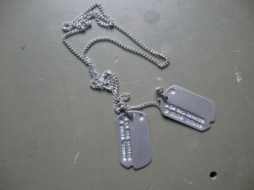 WW2 reproduction military dog tags with M1940 chain setUnited States - 156437