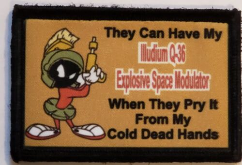 Looney Tunes Martian 2A Morale Patch Tactical Army Military Hook Flag USA Army - 48824
