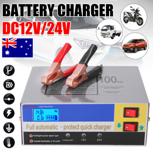 12V-240V Battery Charger Inverter 20 Amp Car ATV 4WD Boat Caravan Motorcycle 10A