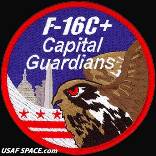 USAF 121st FIGHTER SQUADRON - F-16C+ - CAPITAL GUARDIANS - Andrews, AFB - PATCHOther Exploration Missions - 1346