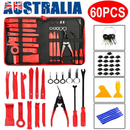 45PCS Car Trim Removal Tool Auto Hand Tools Pry Bar Dash Panel Door Interior Kit