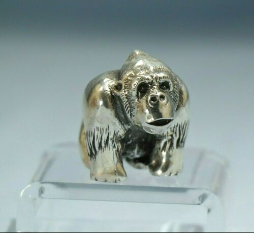 BUCCELLATI Sterling Silver Figure of a Gorilla, Italy 20th Century