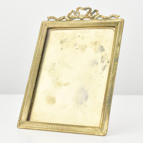 Antique Art Nouveau Ormolu Tabletop Picture Photo Frame Jugendstil Empire
