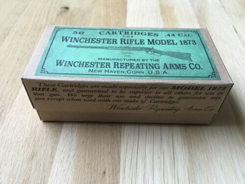 DECO box Winchester Model 1873 44 caliber Ammo box cartridges Old West Western
