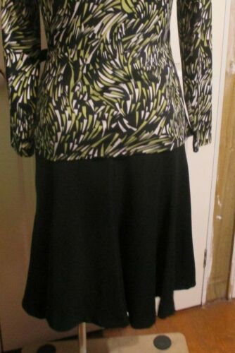 FLARED winter SKIRT BLACK FEATHERS SIZE MEDIUM or size 14