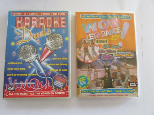 1 Karaoke Duets DVD and 1 WOW Lets Dance DVD