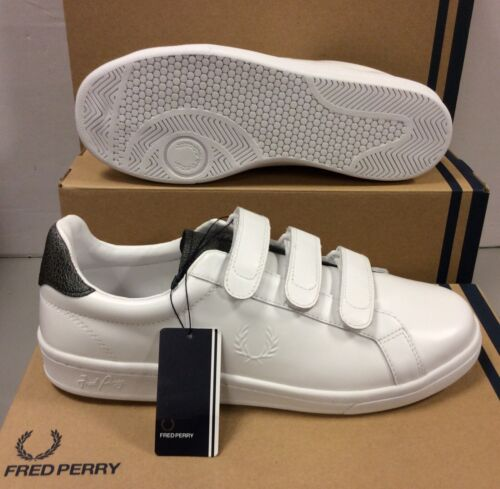 Fred Perry White Leather Men's Sneakers Trainers Shoes UK 11 / EU 46