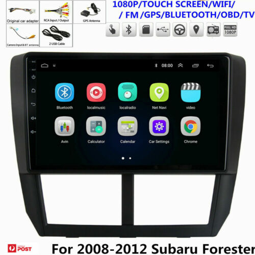 9'' Android 9.1 Head Unit Car GPS Radio For 2008 2009 2010-2012 Subaru Forester