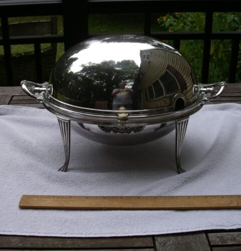 Good Large WALKER & HALL English Silverplate ROLLBACK SERVER w/Inserts-NR!