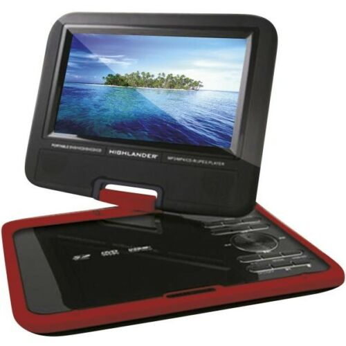 """9"""" Portable DVD Player Car Charger USB/SD Card Slot Remote Control Swivel Screen"""