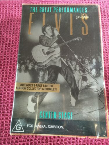 THE GREAT PERFORMANCES ELVIS CENTER STAGE - ELVIS PRESLEY -  CLAMSHELL VHS