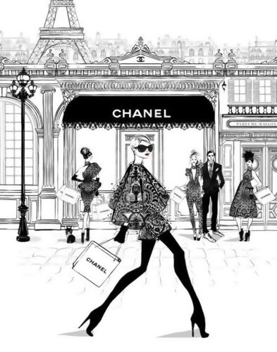 Chanel #443 Canvas Art Print 16 x 20 #2102