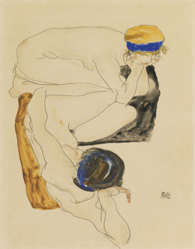 Egon Schiele Two Reclining Nudes Canvas Print 16 x 20      #4704