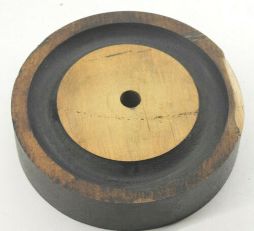 """Lamson Industrial Foundry Wood ~5"""" Round Roller Machine Mold Pattern Part M90"""