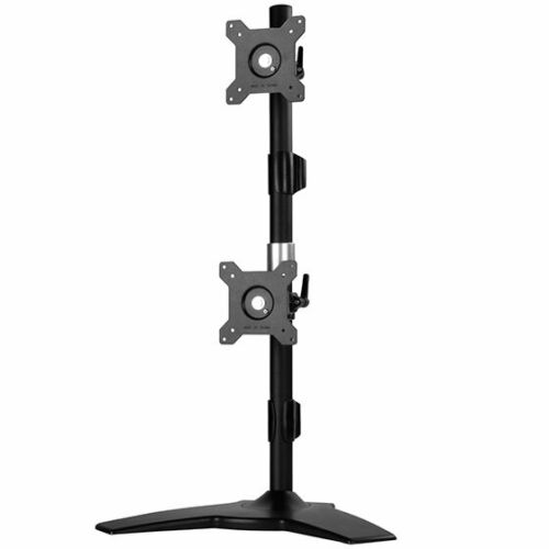 "SilverStone ARM24BS Vertical dual LCD monitor desk stand, support up to 24"" LCD"
