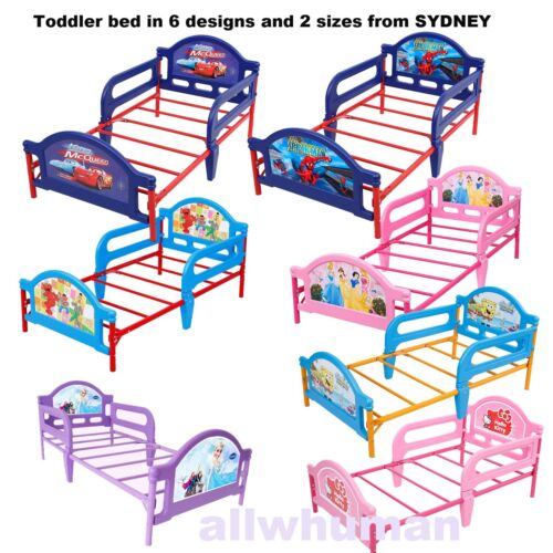 2In1 Kids Toddler Extandable Bed W/Safety Rails Furniture Cars Frozen Spider-man