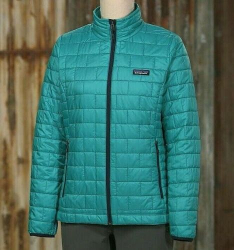 Patagonia Womens NANO PUFF Jacket EPIC BLUE L (Measurements In Listing) RP $230