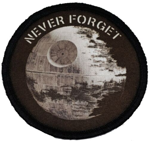 Never Forget Death Star Star Wars Morale Patch Tactical Military USA Army FlagArmy - 48824