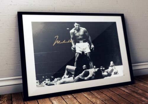 Muhammad Ali Autographed Poster Print. A3 A2 A1 SizesMemorabilia - 31633
