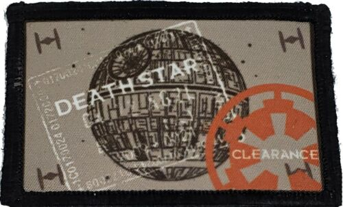 Star Wars Death Star Passport Stamp Morale Patch Tactical ARMY Hook Military USAArmy - 48824